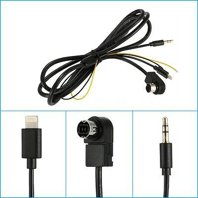 Car 3.5mm AUX Input Adapter Audio Cable Alpine IVA/CDA KCA-121B for Iphone A0O0
