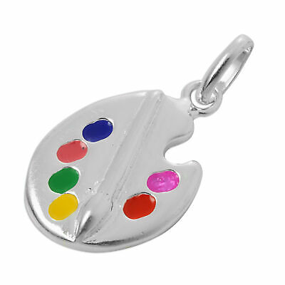 Artists Palette sterling silver charm .925 x 1 Artist Palettes Art charms CF2457