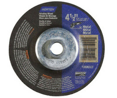"120 ($2.22 each) New Norton Grinding Wheels 4-1/2"" x 1/4"" x 5/8""-11 19559"