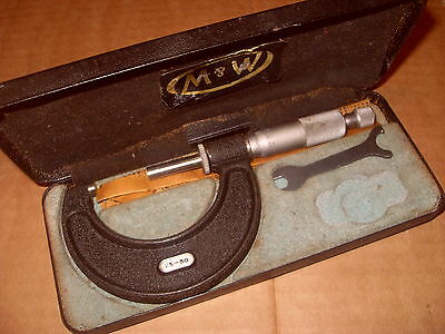 Moore & Wright 966M 25 - 50mm Micrometer - As Photo