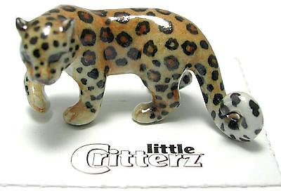 "Little Critterz Miniature Porcelain Animal Figure Amur Leopard ""Siberia"" LC928"