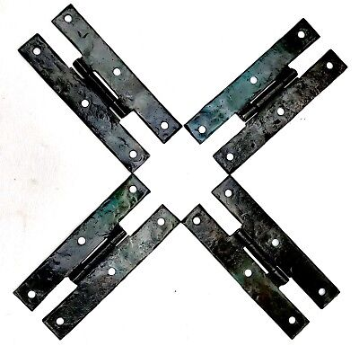 """4"""" Antique Hardware Colonial Style Hammered Metal """"H"""" Butterfly Cabinet Hinge"""