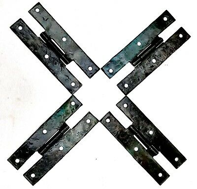 """SET  Antique Hardware Colonial Style Hammered Metal H 4"""" Butterfly Cabinet Hinge"""