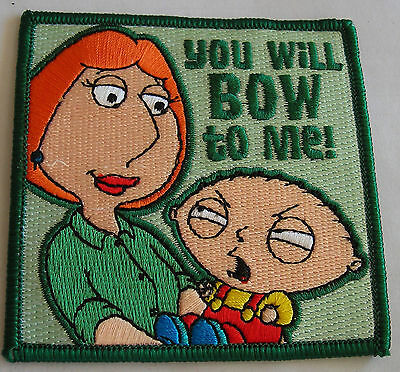 Family Guy Stewie Lois bow to me patch   Licensed