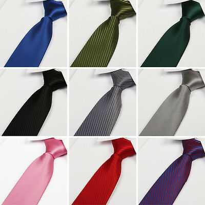 Color Classic Skinny Slim Tie Solid Color Plain Silk Men Jacquard Woven Necktie