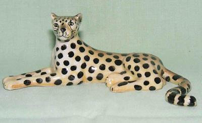 Klima Miniature Porcelain Animal Figure Cheetah Lying K869