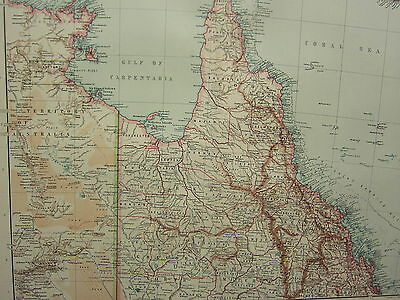 1907 Dated Map ~ North-East Australia ~ Cape York Peninsula Cook North Kennedy