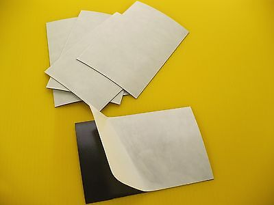 (25) 35 Mil 4X6 Adhesive Magnet Sheets Made In Usa