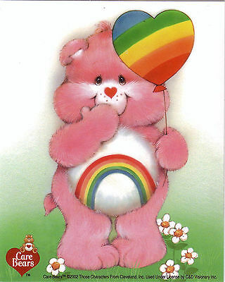 Care Bear Rainbow cheer Licensed Sticker no longer made