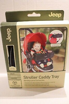 Jeep Stroller Caddy Tray Black Snack & Toy Tray for Infant Strollers NEW