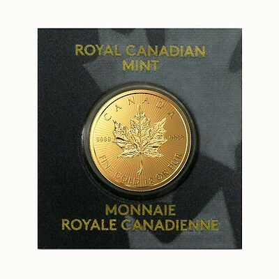 2016 1 gram Canadian Gold Maples .9999 Fine (From Individual Assays)