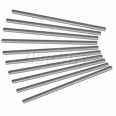 Silver 10pcs 4mm Dia 100mm Length High Speed Steel HSS Lathe Bar Round Rod