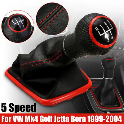 5 Speed Gear Shift Knob Shifter Gaiter Boot For VW Mk4 Golf Jetta Bora 99-04 -UK