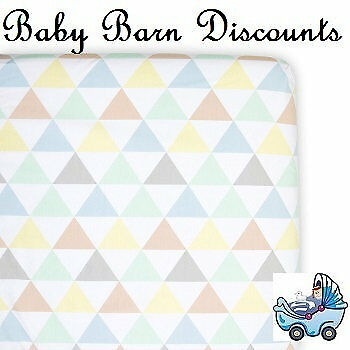 NEW Weegoamigo - Fitted Cot Sheet - Tri Metric from Baby Barn Discounts