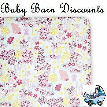 NEW Weegoamigo - Fitted Cot Sheet - Blooming Bunny from Baby Barn Discounts
