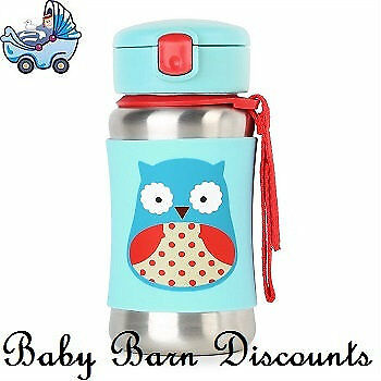 NEW Skip Hop Stainless Steel Straw Bottle - Owl from Baby Barn Discounts