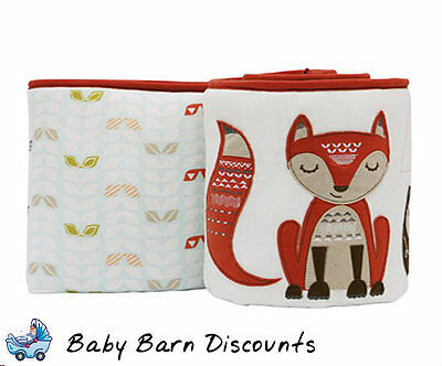 NEW Little Cloud Design - Clever Fox Cot /Crib Bumper from Baby Barn Discounts