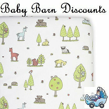 NEW Weegoamigo - Fitted Cot Sheet - Forest Friends from Baby Barn Discounts
