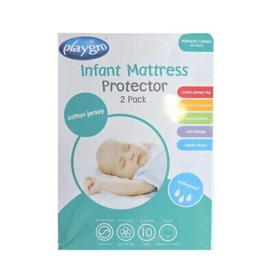 Playgro - Cotton Jersey Infant Portacot/ Cradle Cot Mattress Protector (90x56...