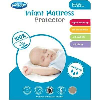Playgro - Cotton Jersey Infant Bassinette Mattress Protector (56 x 40.5cm) - ...