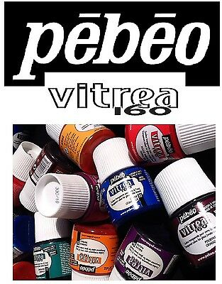 Pebeo Vitrea 160 Glass Paint - 45ml (Gloss & Frosted)