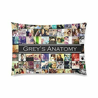 Dual Sided Greys Anatomy ABC Television TV Show Collage Cotton Poly Pillow Case