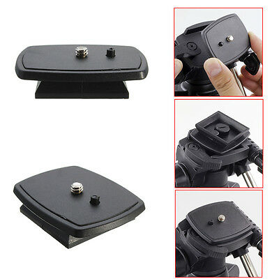 Tripod Quick Release Plate Screw Adapter Mount Head DSLR Camera For SONY Velbon