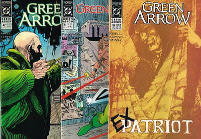 3 issues - Green Arrow - Issue # 39,41,42 **Mature Readers** 1990 - VF - (1485)
