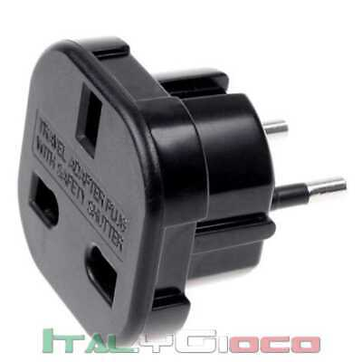 Adattatore Spina Presa Uk Inglese Regno Unito Pereuropa Eu Adapter Plug Power