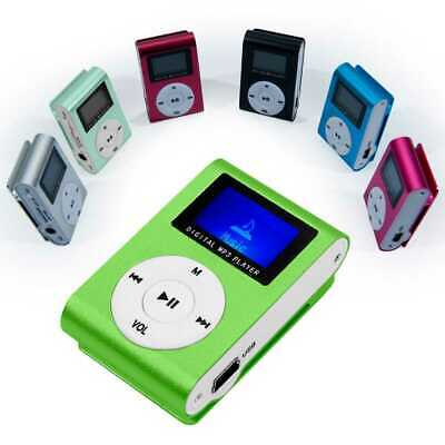 Mini Lettore MP3 Player Clip USB FM Radio LCD Screen Support 32GB Micro SD Verde