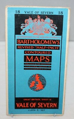 Bartholomew - Half-inch Contoured Cloth Map - Vale of Severn - Sheet 18 - c1953