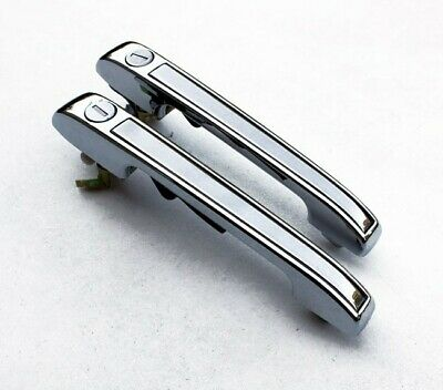 VW Golf 1 MK1 2 MK2 Polo Passat Audi Chrome Front Door Handles Opener Lock GTI-