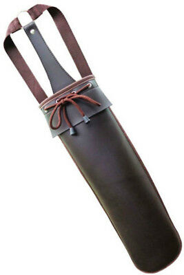 Traditional Chocolate Brown Synthetic Back Arrow Quiver Archery Product Saq110 .