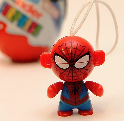 Spiderman Kinder Egg Surprise Toy Super Hero Marvel Figure Cake Topper Key Ring