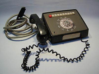 Vintage Antique Rotary Dial Wall Telephone