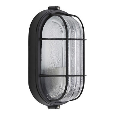 Biard Outdoor Wall Oval Bulkhead Security Light Caged Garden Lamp E27 IP54