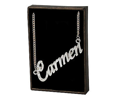 Name Necklace Carmen – 18K Gold Plated   Mother's Day Gift Custom Made Pendant