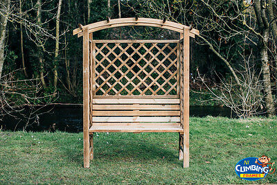 Wooden Arched Pergola with Seating,Outdoor, Garden, Heavy duty,Picnic table,Fun