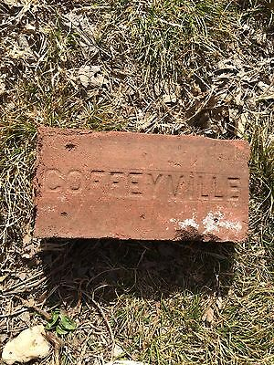 antique street paver brick Coffeyville Ks Kansas sidewalk Road Red Montgomery Co