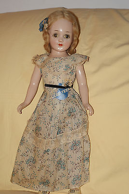 "Vintage All Original Arranbee 20"" Debu'teen Composition Doll Rare Outfit R&B"