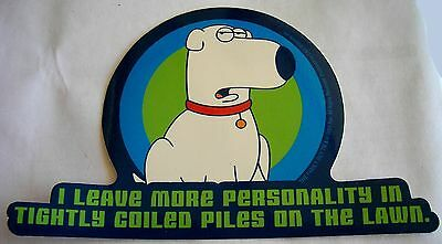 Brian Family Guy Licensed Stcker Retired authentic sticker