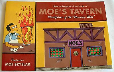 Simpsons sticker  Licensed Moe's tavern Birthplace of the Flaming Moe