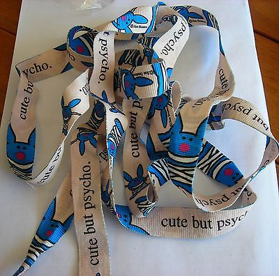 IT'S HAPPY BUNNY Cute but Psycho   Shoelaces Official Merchandise NEW RARE