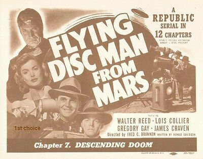 Flying Disc Man from Mars - Cliffhanger Serial DVD  Walter Reed Lois Collier