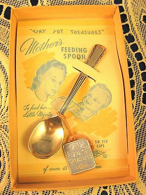 """Sterling Webster ~ GIRL'S  """"TINY TOT TREASURES"""" BABY SPOON ~ Silver Original Box"""