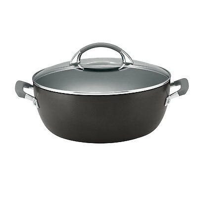 Anolon Endurance+ 30cm/7.1L Covered Casserole Black Induction Hard Anodised NEW