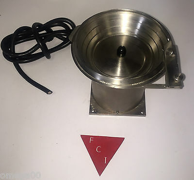 "California Vibratory Feeders CVF Micro C&C Machined STAINLESS Bowl 3"" 120V 60Hz"