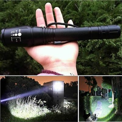 Bright 6000LM XM-L T6 Zoomable Focus LED Flashlight Torch 5 Mode Light Lamp