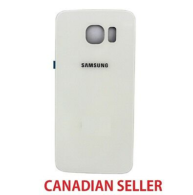 New Back Glass Cover Battery Door Rear Panel for Samsung Galaxy S6 G920P - White