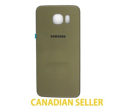 New Back Glass Cover Battery Door Rear Panel for Samsung Galaxy S6 G920P - Gold